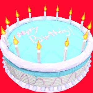 birthday cake 3d obj