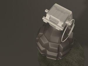 free fbx mode hand grenade