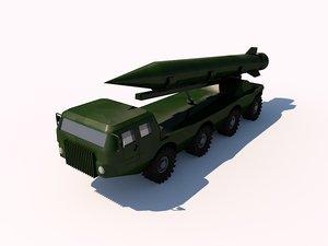 truck maz scud 3d c4d