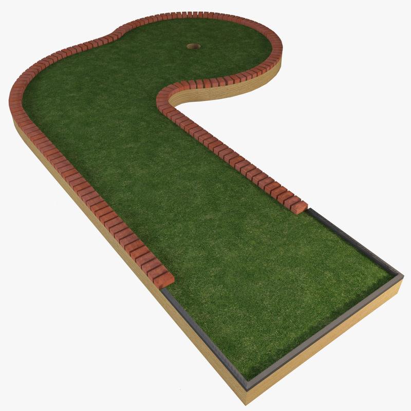 mini golf course 3d max