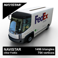 3d navistar estar cargo van model
