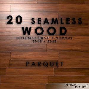 20 High Resolution Seamless Wood Textures - Parquet