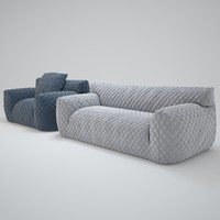 3d model quilted-goose-down-sofa