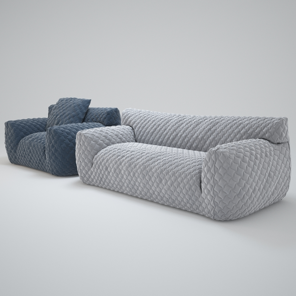 Quilted Goose Down Sofa