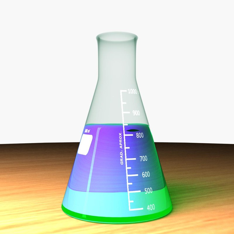 erlenmeyer flask 3d model