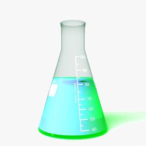 erlenmeyer flask 3d model
