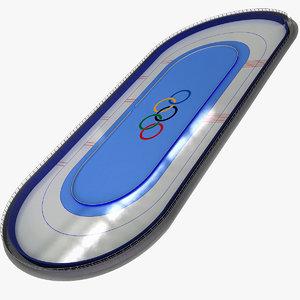 3d model speed skating rink