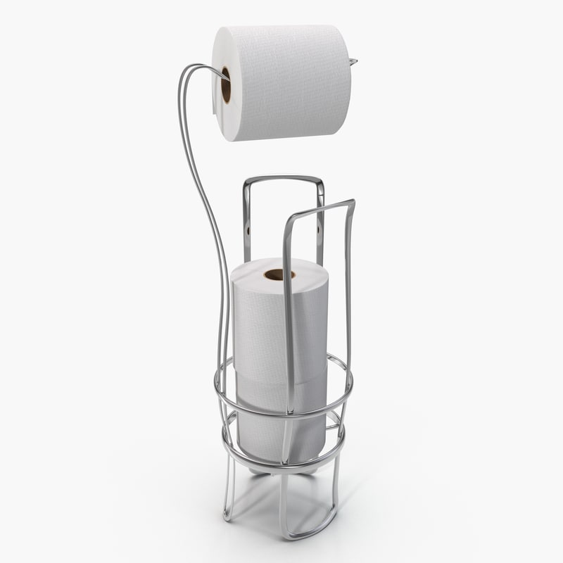 3d model toilet paper holder stand