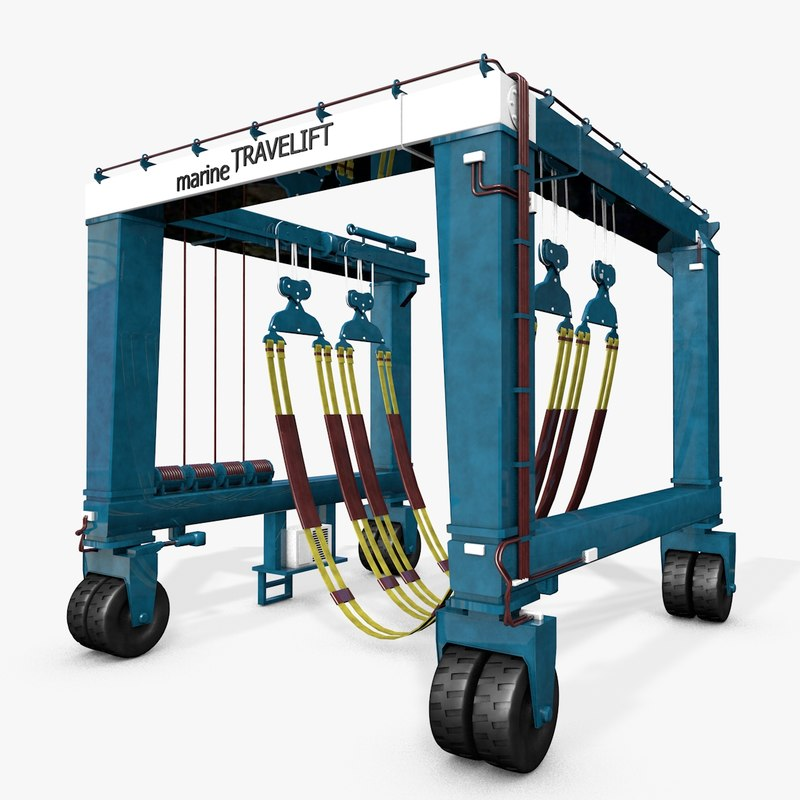 3d model of travel lift