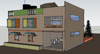 3d house plan model
