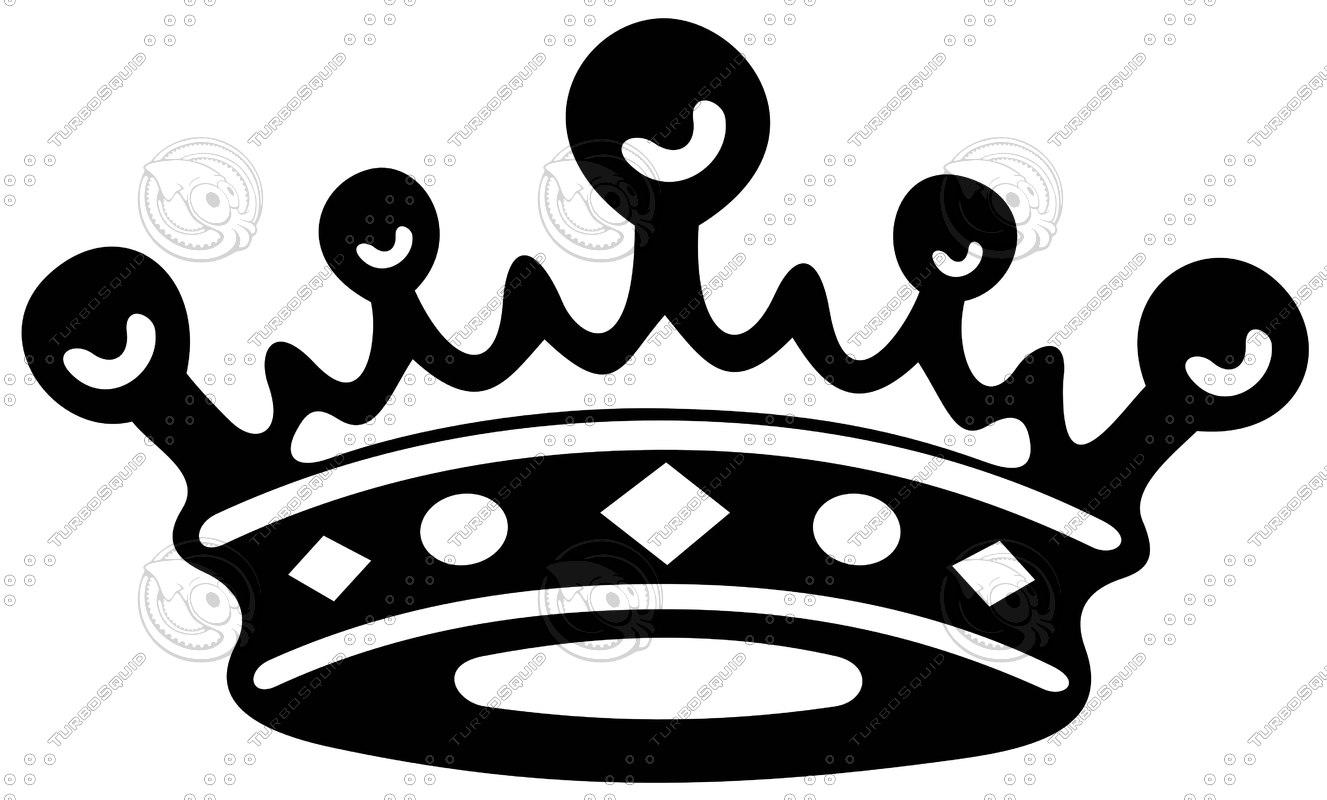 shapes eps black crown art