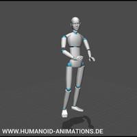 talking on lectern motion capture animation