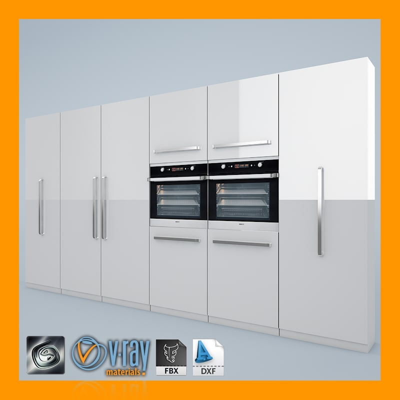 Kitchen Set 01 3d Model