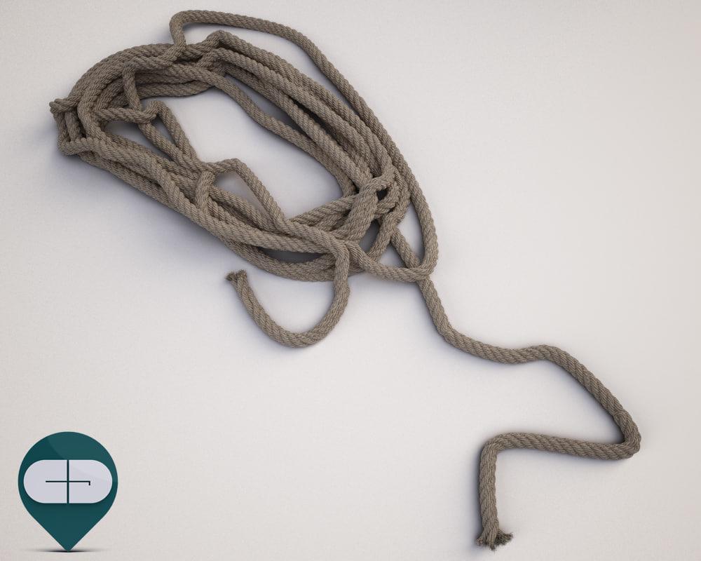 3d model rope industrial