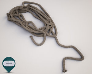 3d model rope industrial