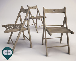 3d 3ds folding chair