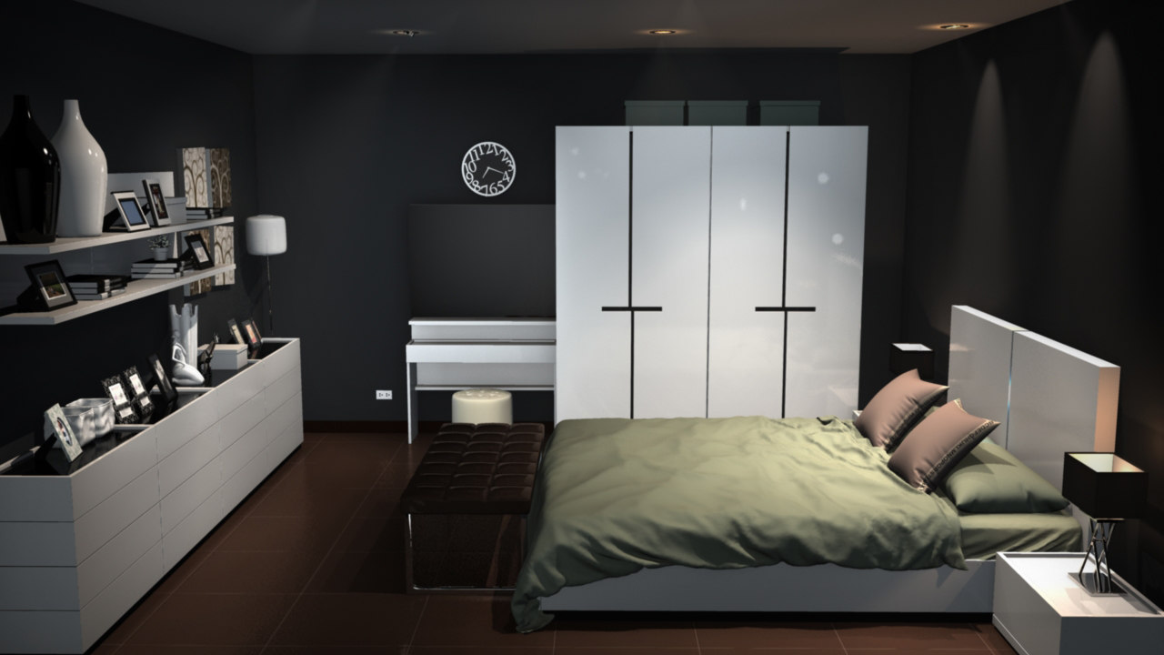 3d model bedroom room modern