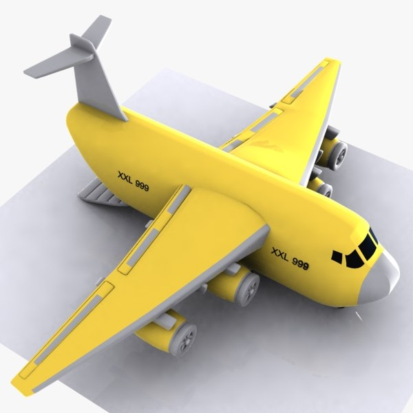 3d cartoon cargo aircraft model