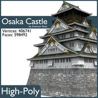 3d model osaka castle