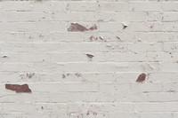 White painted brick