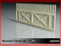 wooden fence wood 3d 3ds