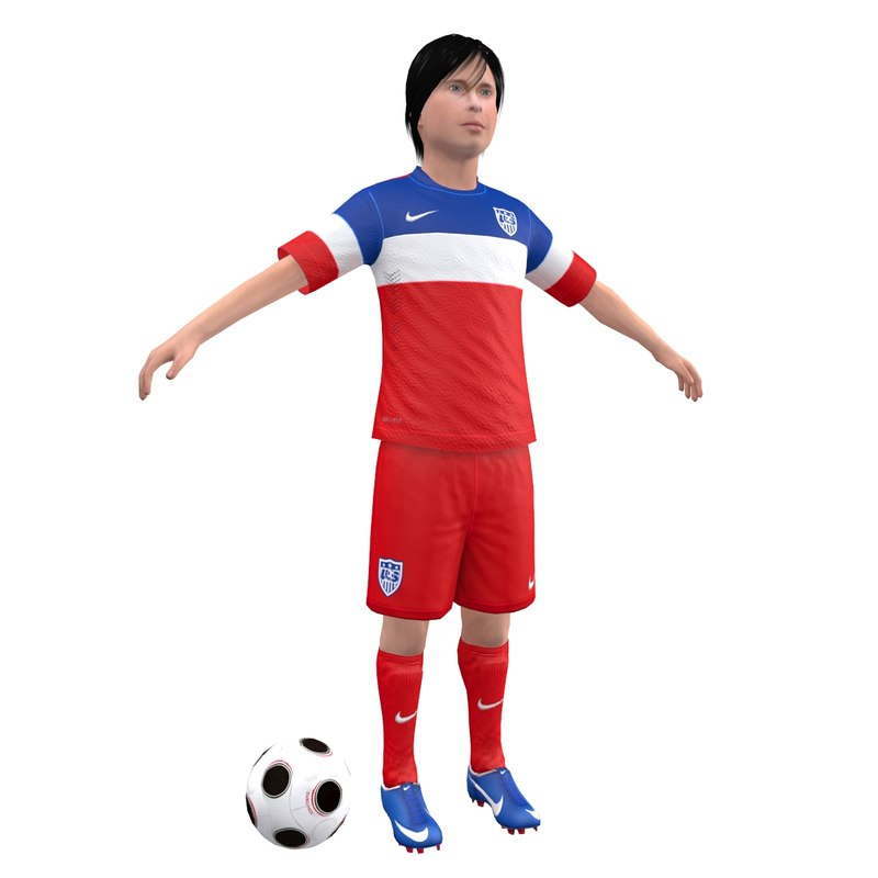 3ds max soccer kid