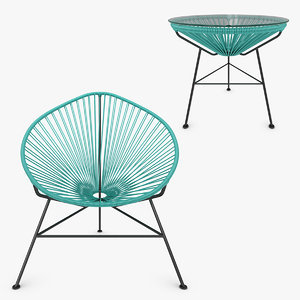 3ds max realistic acapulco chair table