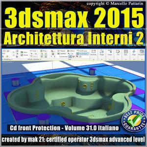 Video Corso 3ds max 2015 Architettura Interni vol 31 Italiano cd front