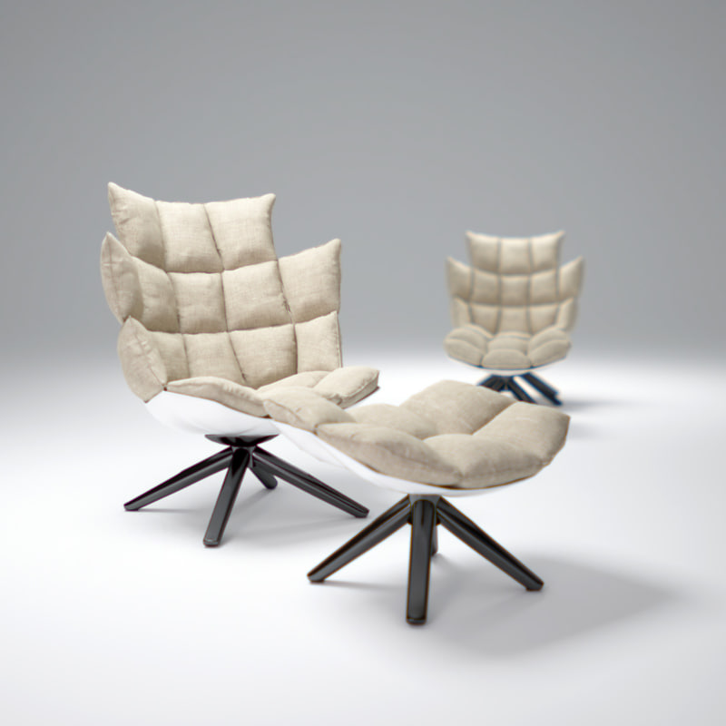 3d Model B B Husk Chair
