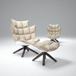 3d model b b-husk-chair