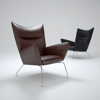 3d ch445-wing-chair model