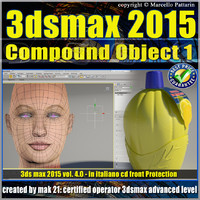 Video Corso 3ds max 2015 Compound Object 1 volume 4 Italiano_cd front