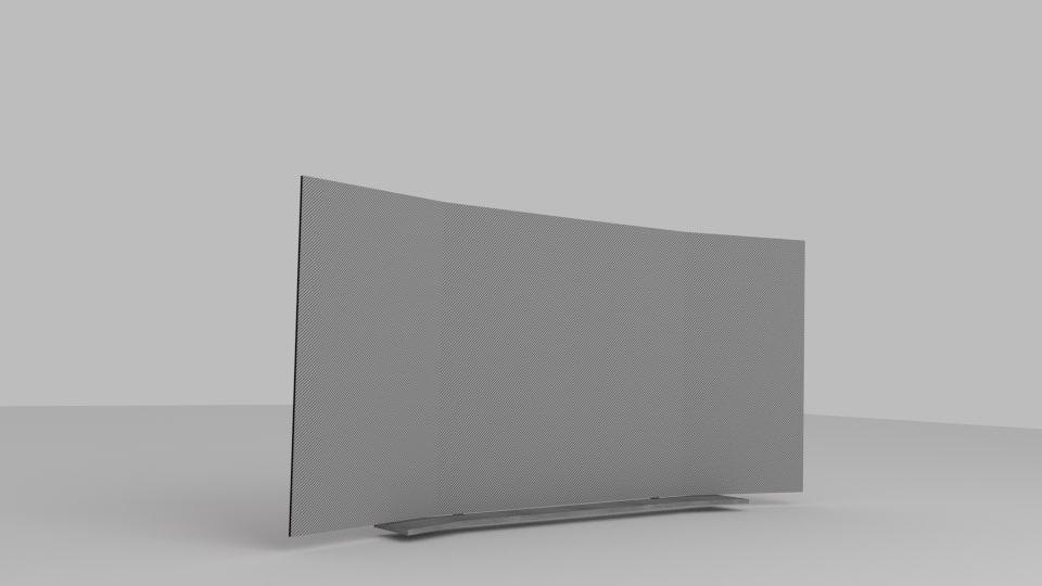 curved tv designed 3d model