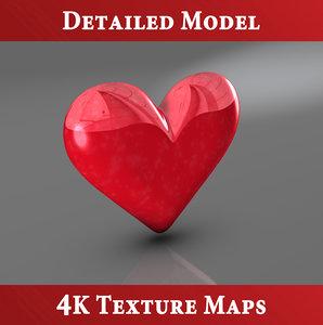 3d heart seven blender model