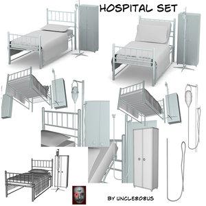 beds poser 3d model