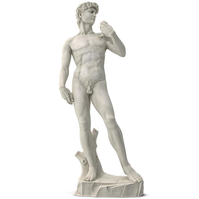 3d statue david model