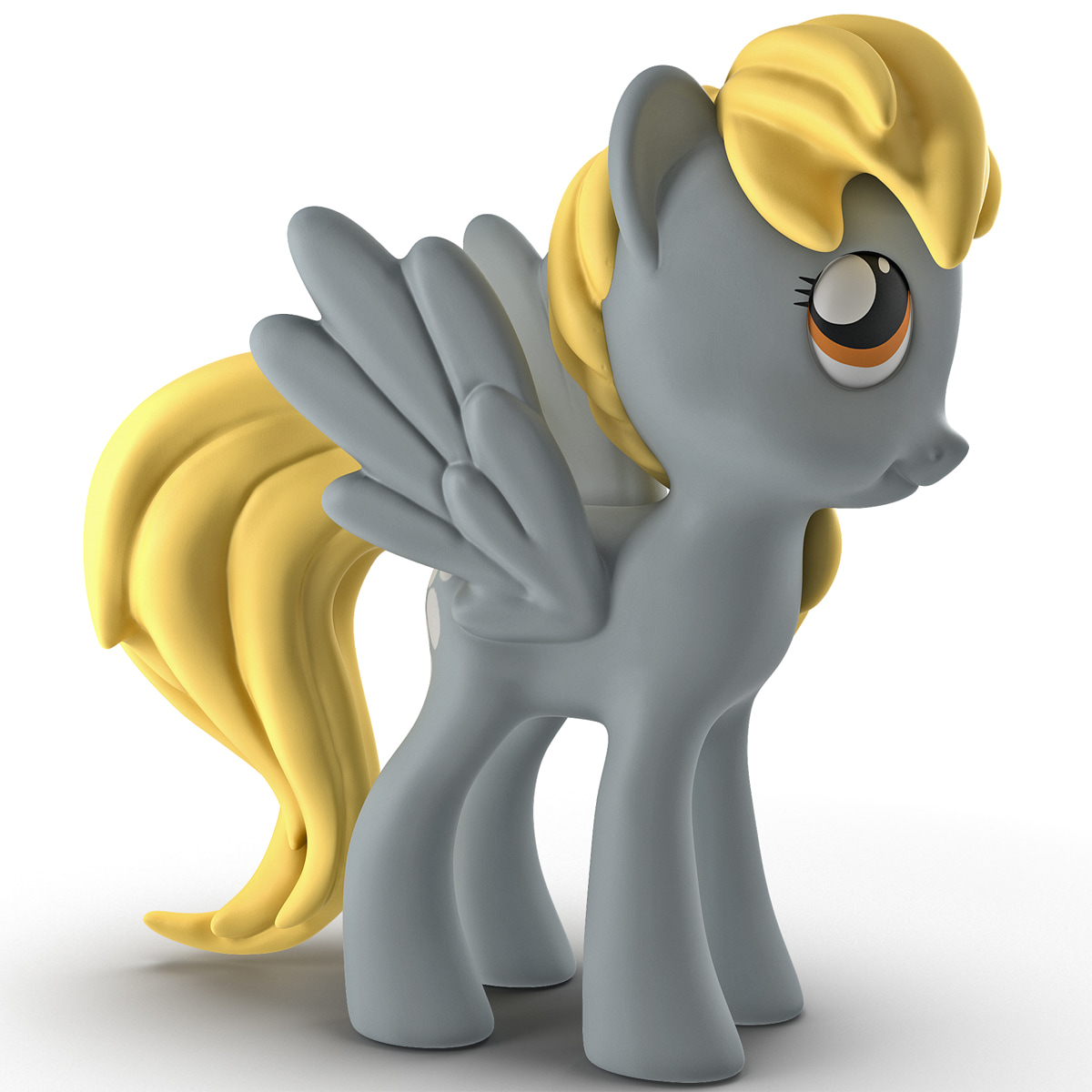 little pony derpy toy 3d model