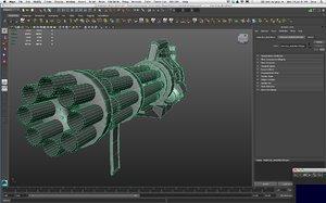 3d model chain gun