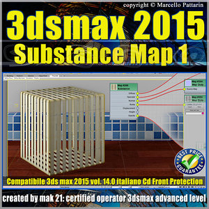 3ds max 2015 Substance Map volume 14.0 Italiano - cd front