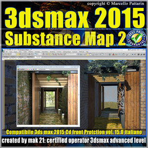 3ds max 2015 Substance Map volume 15.0 Italiano cd front
