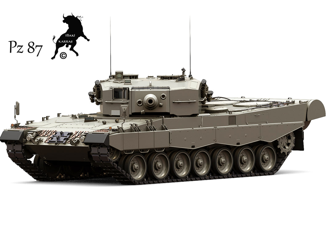 leopard 2a4 3d max