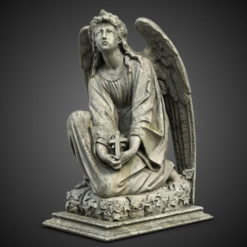 3d weeping angel sculpture