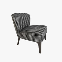 3d model minotti aston armchair