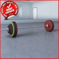 3dsmax fitness straight bar