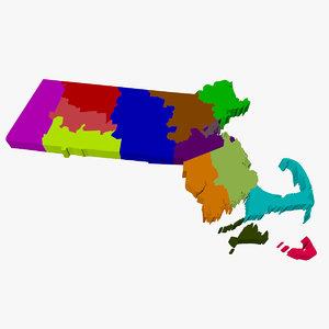 3ds max counties massachusetts