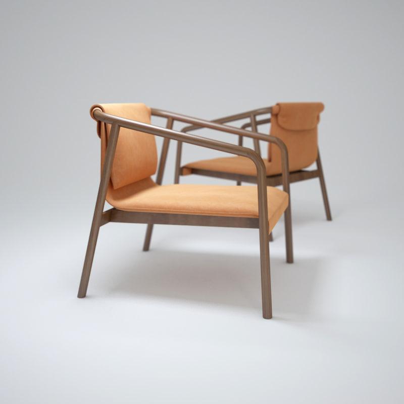 dezeen-oslo-chair 3d obj