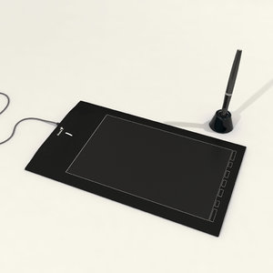 3d model of genius graphic tablet
