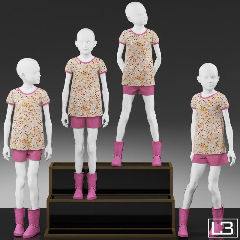 3d girl mannequin
