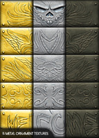 15 metal ornament textures