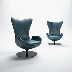 3d natuzzi-audio-armchair